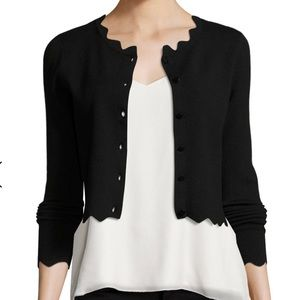 NWT Milly scallop cardigan